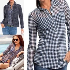 Cabi Mesh Button Down